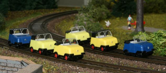 Kres 77700 Gleiskraftrad Schienentrabi - Vorschau 3