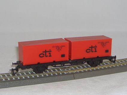 BTTB 4523 Plattformwagen mit Container