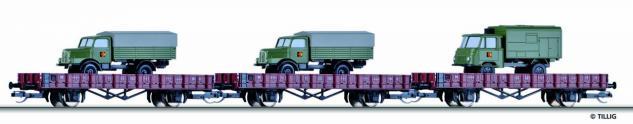 Tillig 01711 Güterwagenset Militärtransport