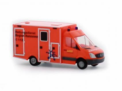 Rietze 16174 WAS Ambulanz RTW