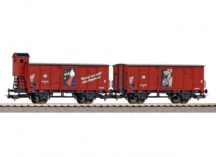 Piko 58373 2er Set Güterwagen Fit der DR