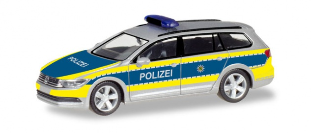 Herpa 093828 VW Passat Variant B8 Polizei Sachsen