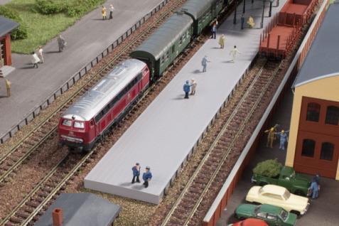 Auhagen 14641 Bahnsteig ohne Überdachung