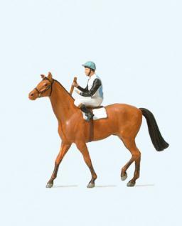 Preiser 29080 Jockei auf Pferd