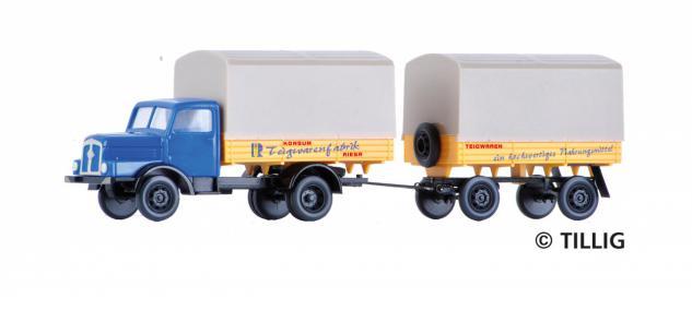 Tillig 08638 LKW H3A mit Anhänger - Vorschau