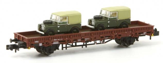 Arnold HN6434 Flachwagen mit Land Rover