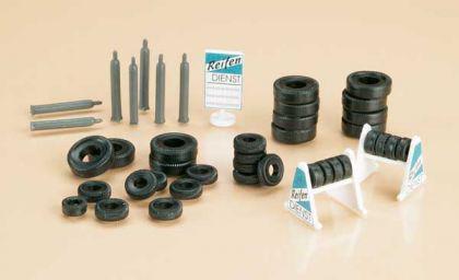 Auhagen 42590 Reifen, Ständer, Gasflaschen