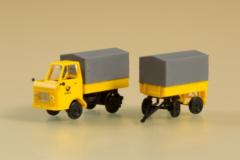 Auhagen 43662 Multicar Post mit Anhänger