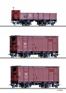 Tillig 05971 H0e Güterwagenset der DR