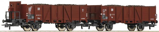 Roco 67166 Güterwagenset mit Echtkohle