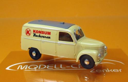 Modell Car Zenker Framo Konsum Backwaren