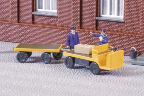 Auhagen 43659 Elektrokarren mit Anhänger