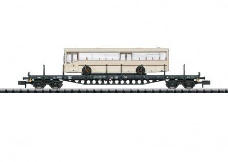 Minitrix 15862 Flachwagen mit Stadtbus
