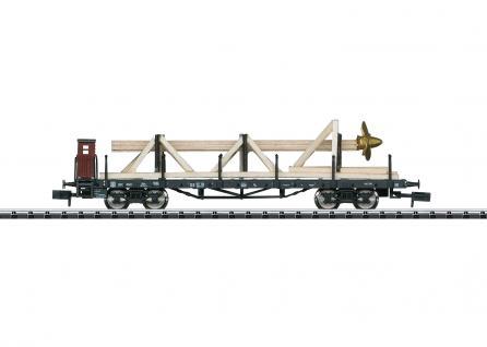 Minitrix 15928 Flachwagen mit Schiffsschraube