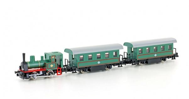 Kato K10503-1 Dampflok mit Personenwagen