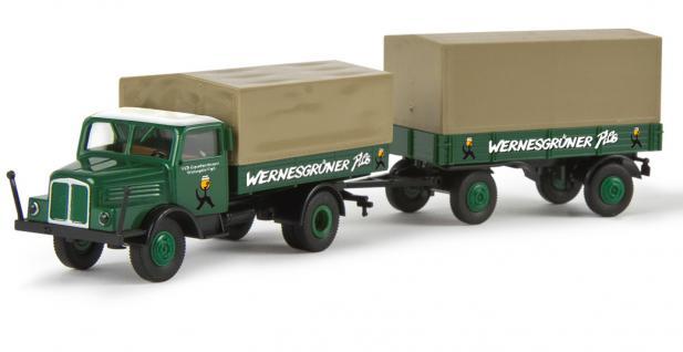 Brekina 71525 S4000 Hängerzug Wernesgrüner - Vorschau 1