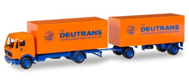 Herpa 308137 MB Koffer-Hängerzug Deutrans
