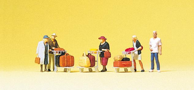 Preiser 75033 Reisende. Mit Kofferkulis