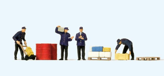Preiser 75050 Güterbodenpersonal