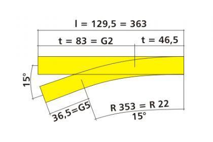 Tillig 83817 Bettungs-Handweiche links - Vorschau 2