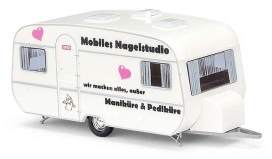 Busch 44961 Tabbert Wohnwagen Nagelstudio - Vorschau 1