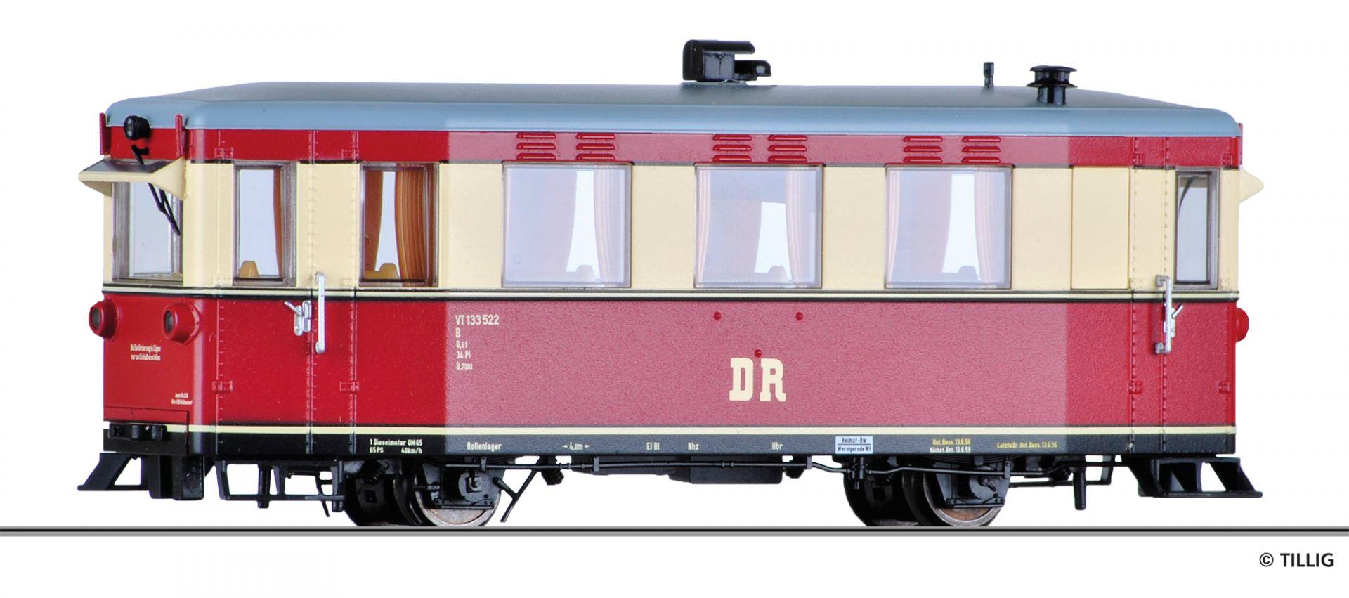 Tillig 02950 H0e Triebwagen VT 133 der DR