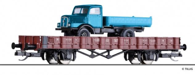 Tillig 14664 Rungenwagen mit LKW H3A - Vorschau 1