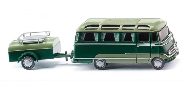 Wiking 026004 Panoramabus mit Anhänger