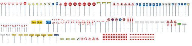 Faller 272449 Verkehrsschilder-Set - Vorschau 1