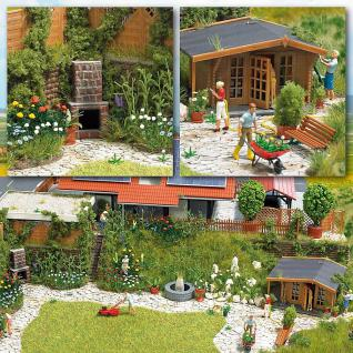Busch 1226 Ziergarten mit Gartenhaus