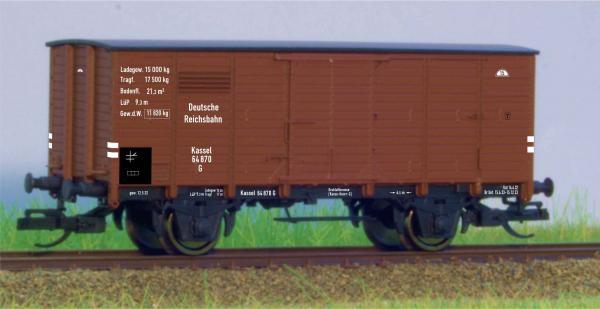 Hädl 113901 Flachdachgüterwagen DRG