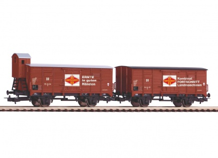 Piko 58366 2er Set Güterwagen Fortschritt