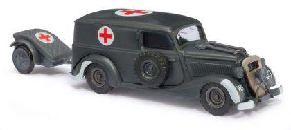 Busch 41561 Sanitätsfahrzeug mit Anhänger