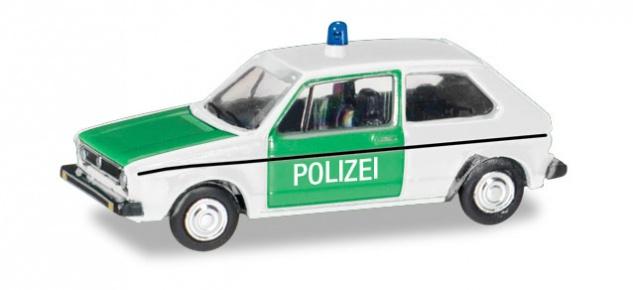 Herpa 066655 VW Golf 1 Polizei