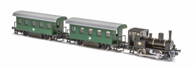 Kato K105003 Dampflok mit Personenwagen