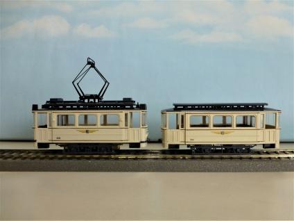 Union Straßenbahn Dresden mit Beiwagen
