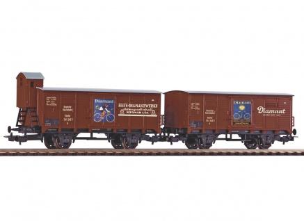 Piko 58368 2er Set Güterwagen Diamant