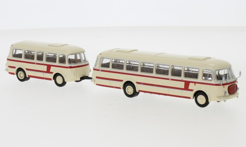 Brekina 58264 Jelcz 043 Bus mit Anhänger