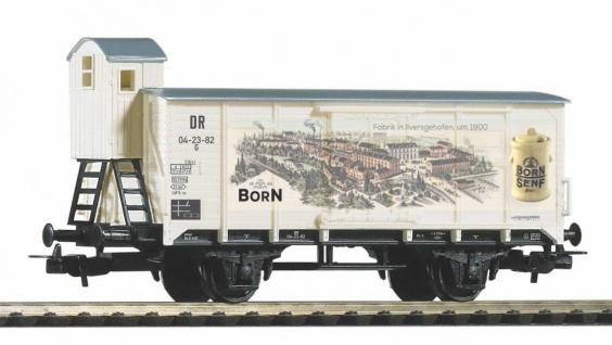 Piko 54447 Gedeckter Güterwagen Born Senf
