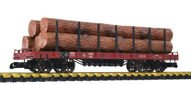 Liliput L95752 Flachwagen mit Holzstämmen