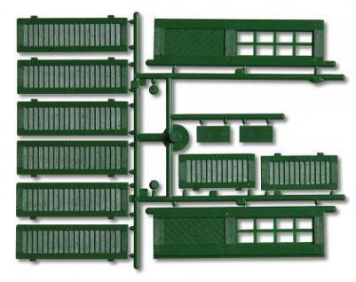 Pola 333112 Fensterläden und Türen, grün