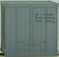 PSK 6710 Set mit 10 Fuß Container der DR