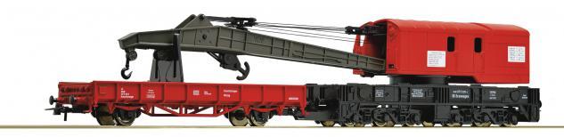 Roco 56240 Kranwagen mit Schutzwagen