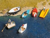 Busch 1157 Boote-Set H0