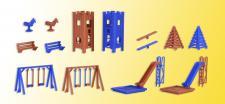 Vollmer 43665 Deko-Set Kinderspielplatz