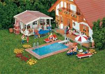 Faller 180542 Schwimmingpool Gartenhaus
