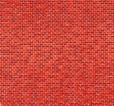 Auhagen 50504 Ziegelmauer rot