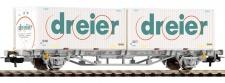 Piko 57785 Containertragwagen Dreier