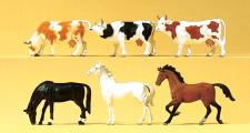 Preiser 75019 Pferde, Kühe