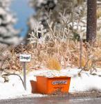 Busch 1167 Winter an der Straße